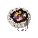 Speeltapijt -/ opbergzak zwart- wit inkleurbaar- colour my bag OMY