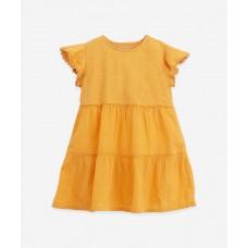 Okergeel kleedje - Short sleeved dress sunflower (**)
