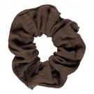 Donkerbruine scrunchie - Chou chou carafe