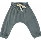 Grijsblauwe velours babybroekje - Pantalon cannelle stormy weather