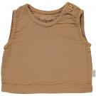 Karamelbruine mouwloze t-shirt - Ceylan brown sugar
