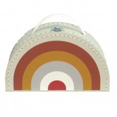 Regenboog speelkoffertje - retro