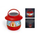2 in 1 : projectielamp + nachtlamp het circus (incl. 0,05 € recupel)