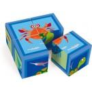 Blokkenpuzzel de dieren onder water  4 stuks