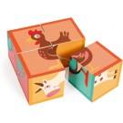 Blokkenpuzzel de dieren van de boerderij  4 stuks (Wenslijst ...)