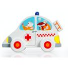 Houten dienstvoertuig : ziekenwagen