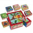 Blokkenpuzzel de jungle 9 stuks (Geboortelijst Felix D.M.)