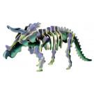 Houten 3D- puzzel dino- triceratops