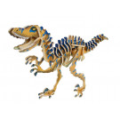 Houten 3D- puzzel dino- velociraptor