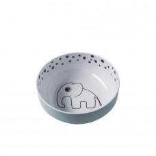 Muntgroen kommetje met olifant en bolletjes - yummy bowl - Done by deer