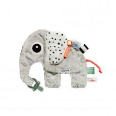 Zachte knuffeldoek Elphee de olifant
