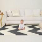 Zwart- wit puzzeltapijt - playspot geo black  (Geboortelijst Sue Deyaert)