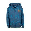 Blauwe hoodie met cactussen  - jeans blue fiesta