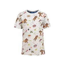 Grijs melange t-shirt met king kong - bono light grey melange