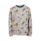 Grijs melange sweater met apen - bono grey melange
