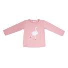 Roze t-shirt met gans - Dancyba light pink