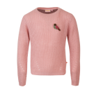 Oudroze gebreide sweater - Ellielight pink old