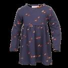 Blauw kleedje met paarden - navy meryba