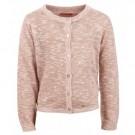 Oud roze cardigan met subtiele glitters en hartjes - muni light pink
