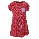 Rood kleedje met kleurrijke boogjes - rainbow red