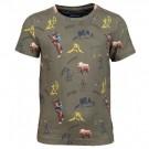 Kaki t-shirt met cowboys - arizona khaki