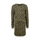 Kaki kleed met velvet tijgerprint - Sansa khaki  (stapelkorting)