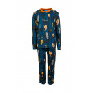 Petrolblauwe pyjama jungleprint - nocturne dark petrol