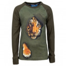Kaki t-shirt met tijger - thomas dark khaki (stapelkorting)