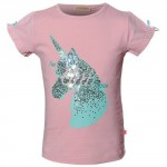 Oud roze t-shirt met unicorn - soft pink unicorn (stapelkorting)
