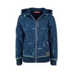 Jeanskleurige hoodie met skateboarden - graffiti light blue denim