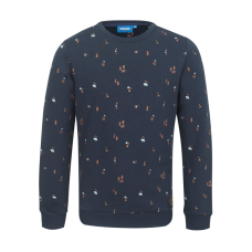 Donkerblauwe trui met beertjesprint - Hike navy melange