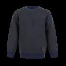 Donkerblauwe geruite trui - Biker navy
