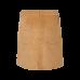 Lichtbruin ribfluwelen rok - Cara medium beige