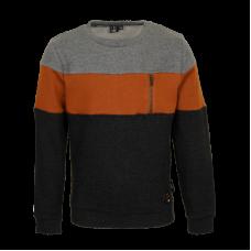 Sweater met verschillende kleuren - Chiller grey melange