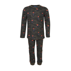 Kakigroene pyjama met vosjes - Dormir khaki