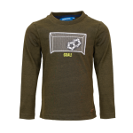 Kakigroene t-shirt met goal - Hazard khaki melange