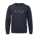 Blauwgrijze trui gamer - Lost dark blue melange