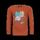 Roestbruine t-shirt met wasbeer - Mira cognac