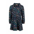Donkerblauw kleedje met bosdiertjes - Mira navy