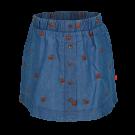 Jeansblauw rokje met hertjes - Nara denim blue