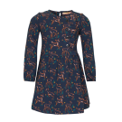 Donkerblauw kleedje met hertjes - Nara navy