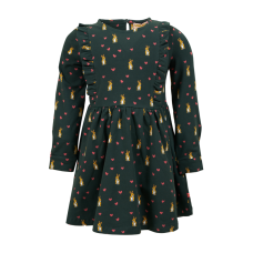 Donkergroen kleedje met konijntjes - Animo dark green
