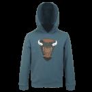 Blauwgrijze sweater met  - Noah blue melange