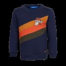Donkerblauwe trui met strepen en aap - Survive navy