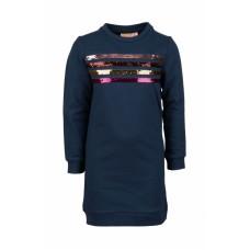 Donkerblauw sweaterjurkje met strepen - Zanna navy