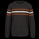 Antraciete sweatertrui met strepen - geocamo khaki