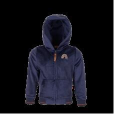 Donkerblauwe fluweelzachte hoodie - Zanna navy