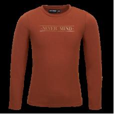 Bruine t-shirt met opschrift - You cognac