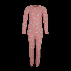 Tweedelige roze pyjama met zwanen - Snooze light pink