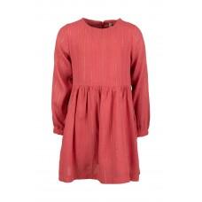Frambooskleurig kleed met gouden streepjes - fragil old pink